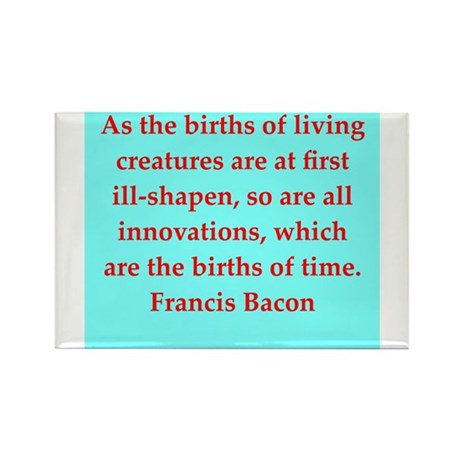 Francis Bacon quotes Rectangle Magnet (10 pack)