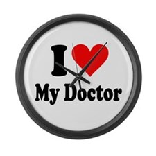 I Love My Doctor: Large Wall Clock