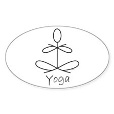 Yoga Glee in White Decal