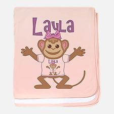 Little Monkey Layla baby blanket