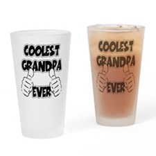 Coolest Grandpa Ever Drinking Glass