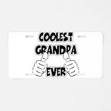 Coolest Grandpa Ever Aluminum License Plate