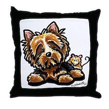 Norwich Terrier Cartoon Throw Pillow