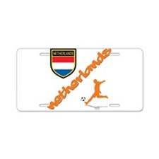 NETHERLANDS SOCCER Aluminum License Plate