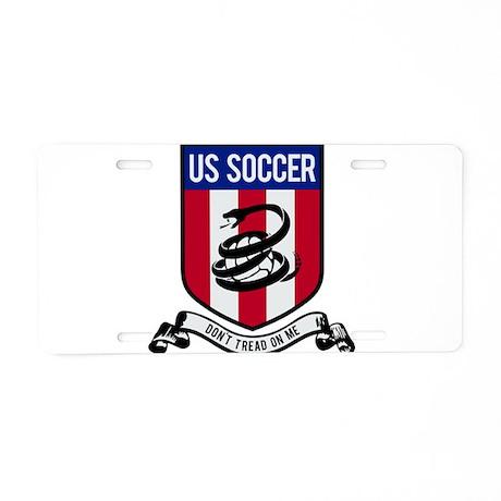 USA Soccer Aluminum License Plate