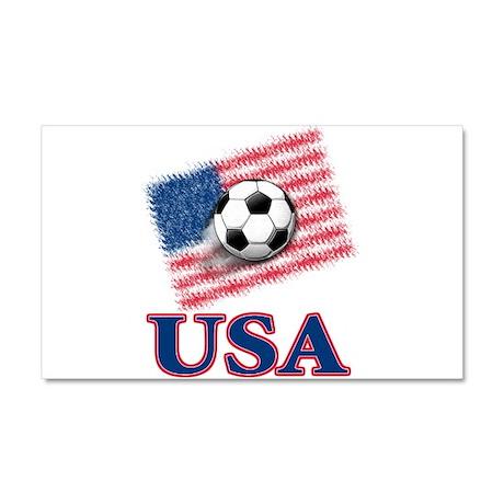 USA Soccer Car Magnet 20 x 12