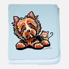 Norwich Terrier Cartoon baby blanket