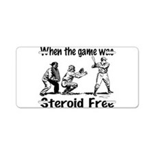 Steroid free baseball Aluminum License Plate