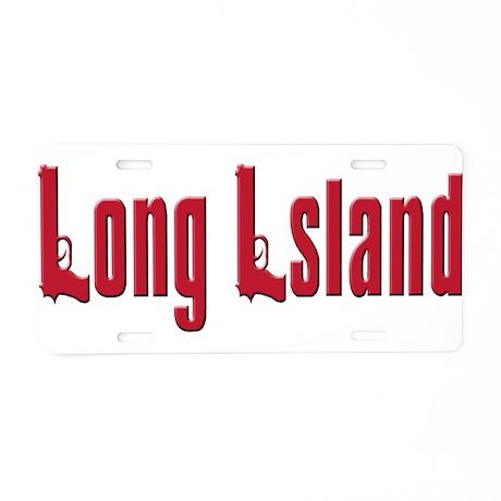 Long Island, New York Aluminum License Plate
