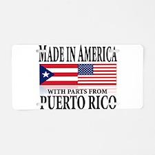 Puerto RICAN Aluminum License Plate