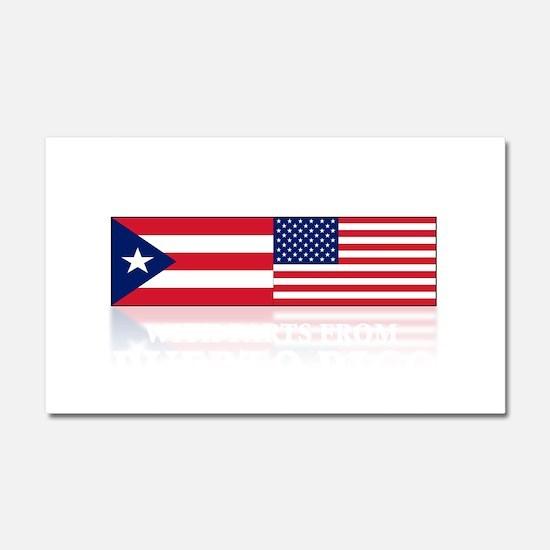 Puerto RICAN Car Magnet 20 x 12