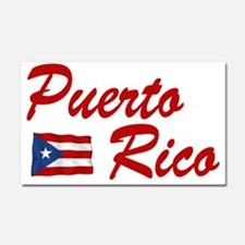Puerto rican pride Car Magnet 20 x 12