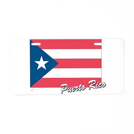Flag of Puerto rico Aluminum License Plate