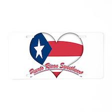 Puerto Rican Sweetheart Aluminum License Plate