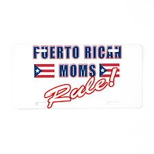 Puerto Rican Moms Rule Aluminum License Plate