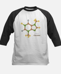 Chocolate Molecule Kids Baseball Jersey