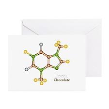Chocolate Molecule Greeting Cards (Pk of 10)
