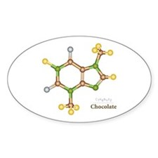 Chocolate Molecule Oval Decal