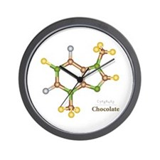Chocolate Molecule Wall Clock