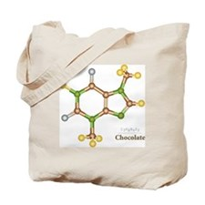 Chocolate Molecule Tote Bag
