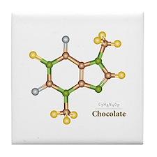 Chocolate Molecule Tile Coaster