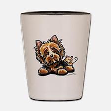 Norwich Terrier Cartoon Shot Glass