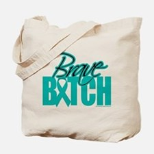Brave Bitch Cervical Cancer Tote Bag