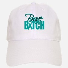 Brave Bitch Cervical Cancer Baseball Baseball Cap