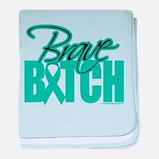 Brave Bitch Cervical Cancer baby blanket