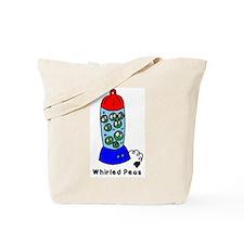 Whirled Peas (World Peace!) Tote Bag