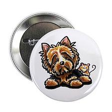 "Norwich Terrier Cartoon 2.25"" Button"