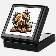 Norwich Terrier Cartoon Keepsake Box
