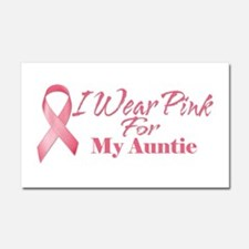 I Wear Pink For My Auntie Car Magnet 20 x 12