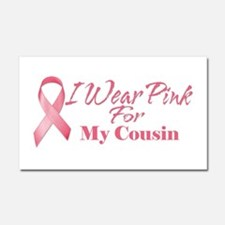 I Wear Pink For My Cousin Car Magnet 20 x 12