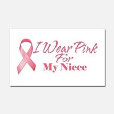 I Wear Pink For My Niece Car Magnet 20 x 12