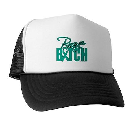 Brave Bitch Ovarian Cancer Trucker Hat