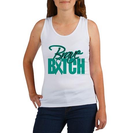 Brave Bitch Ovarian Cancer Women's Tank Top
