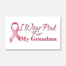I Wear Pink For My Grandma Car Magnet 20 x 12