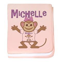 Little Monkey Michelle baby blanket