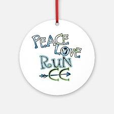 Peace Love Run CC Ornament (Round)