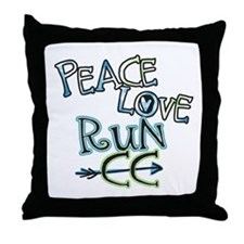 Peace Love Run CC Throw Pillow