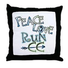 Peace Love Run CC Throw Pillow