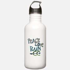 Peace Love Run CC Water Bottle
