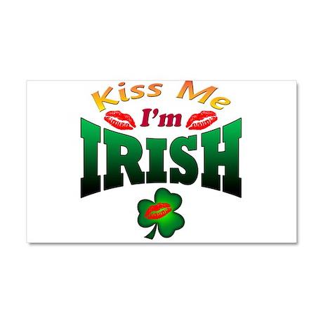 kiss I'm irish Car Magnet 20 x 12