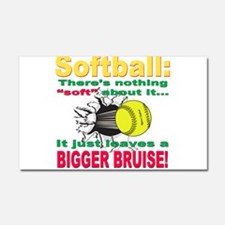 Girls Softball Car Magnet 20 x 12