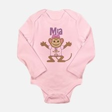 Little Monkey Mia Long Sleeve Infant Bodysuit