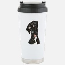 Happy N B&W Travel Mug