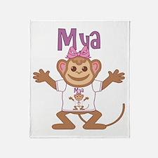 Little Monkey Mya Throw Blanket