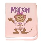 Little Monkey Mariah baby blanket