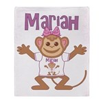 Little Monkey Mariah Throw Blanket